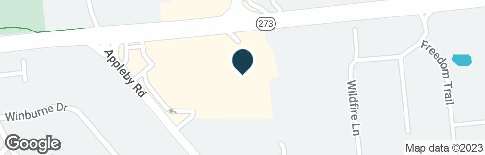 Google Map of287 CHRISTIANA RD