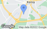 Map of Xenia, OH