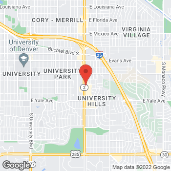 Map of Panera Bread at 2466 S. Colorado Boulevard, Denver, CO 80222
