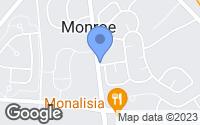 Map of Monroe Township, NJ
