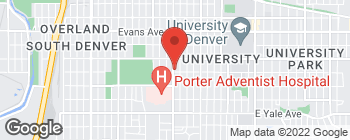 Map of 2390 S Downing St in Denver