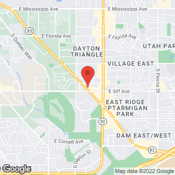 Map of Arby's at 2260 South Parker Rd., Denver, CO 80247