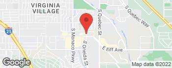 Map of 2055 S Oneida St in Denver