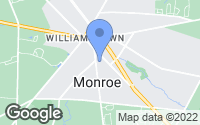 Map of Monroe Township, NJ