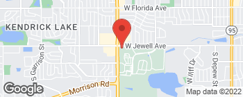 Map of 7586 W Jewell Ave in Lakewood