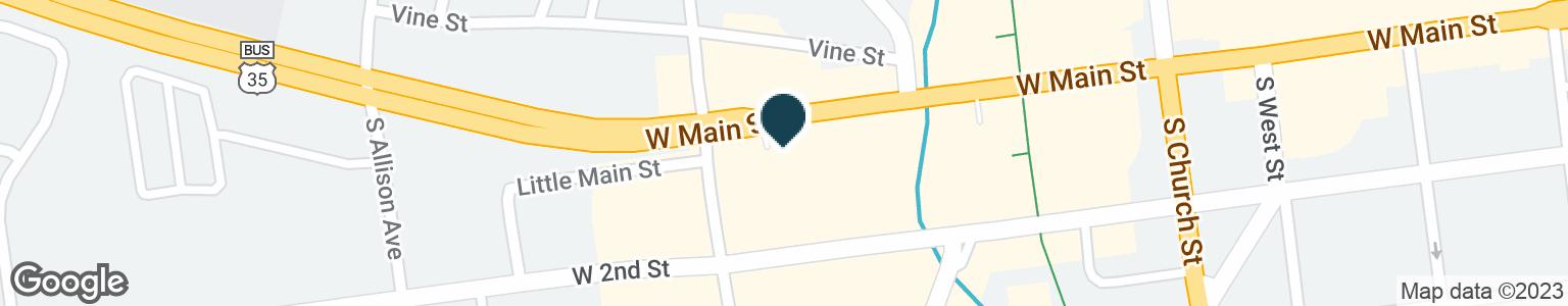 Google Map of537 W MAIN ST