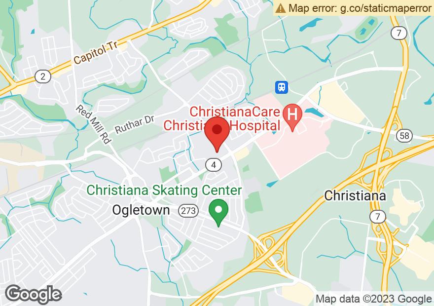 Google Map of 4114 OGLETOWN STANTON RD