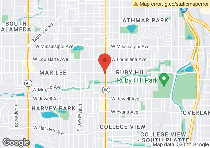 Google Map of 1505 S FEDERAL BLVD