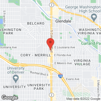 Map of BAYADA Home Health at 1385 South Colorado Boulevard, Denver, CO 80222