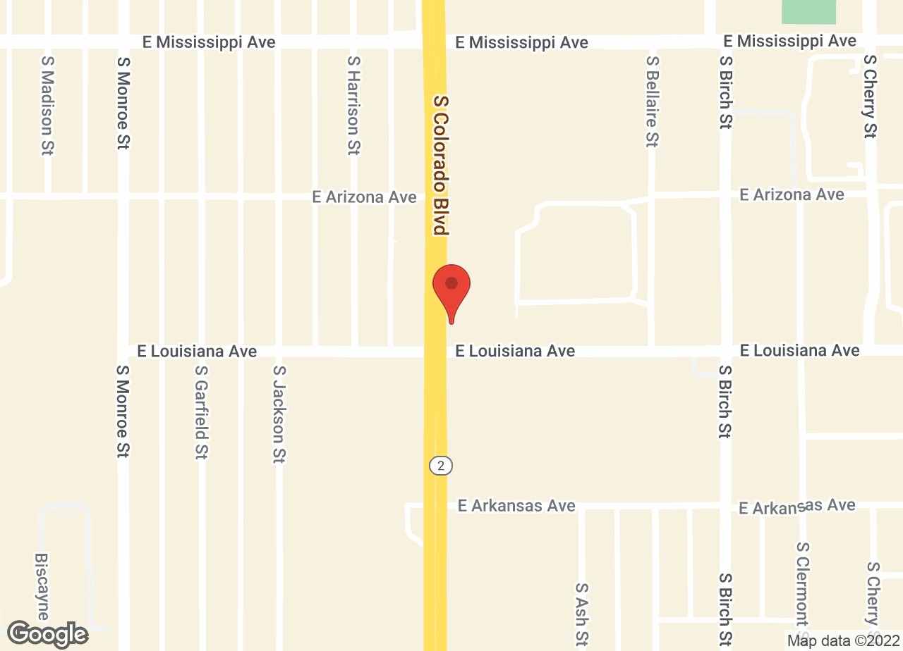 Google Map of VCA Aspenwood Animal Hospital