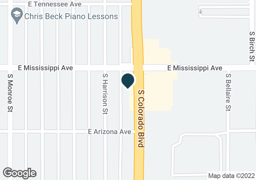 Google Map of1111 S COLORADO BLVD