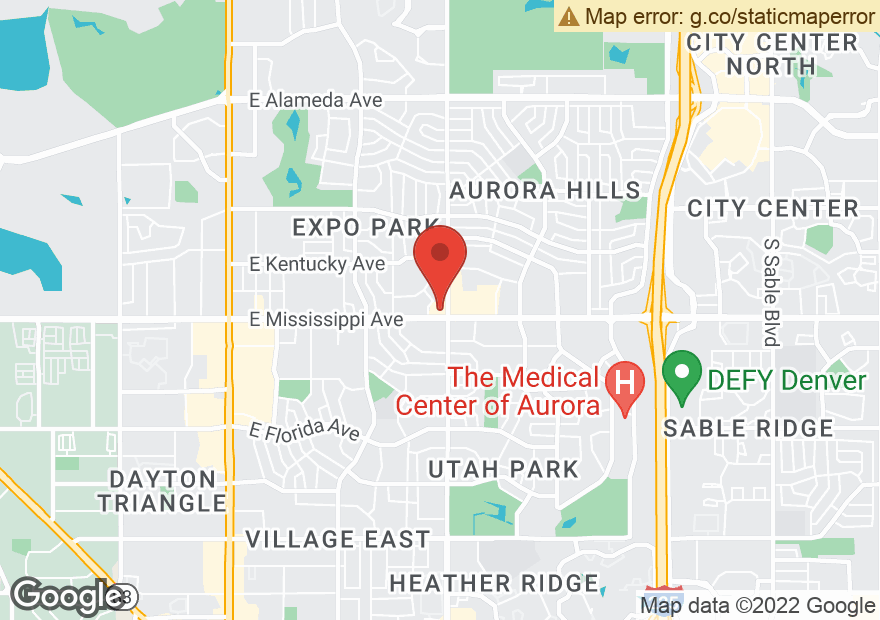 Google Map of 12051 E MISSISSIPPI AVE