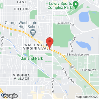 Map of Taco Bell at 7150 Leetsdale Drive, Denver, CO 80224