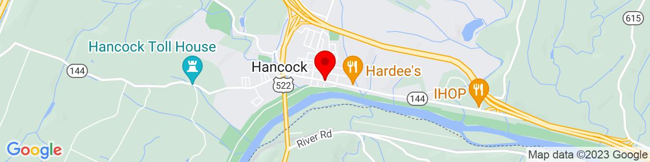 Google Map of 39.6989809, -78.17972929999999