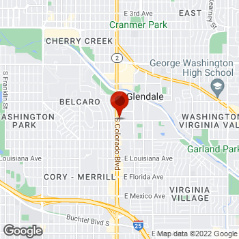 Map of Staples® Print & Marketing Services at 870 South Colorado Blvd., Glendale, CO 80246