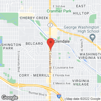 Map of Staples at 870 South Colorado Blvd., Glendale, CO 80246