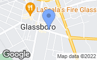Map of Glassboro, NJ