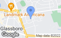 Map of Glassboro, NJ