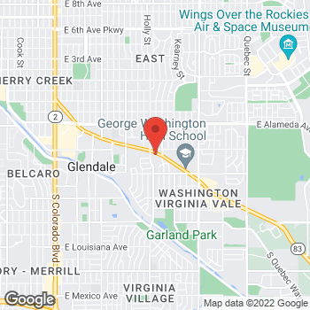 Map of Tuesday Morning at 560 South Holly Street, Denver, CO 80246