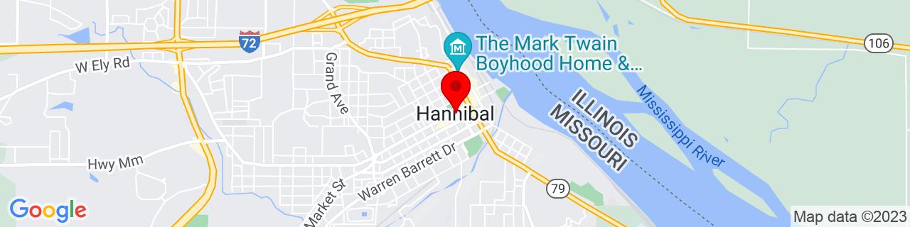 Google Map of 39.7083789, -91.35848159999999