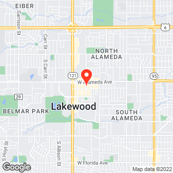 Map of LOFT at 370 South Teller Street, Lakewood, CO 80226