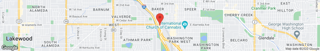 Mapa de 900 West Alameda Ave. en Denver