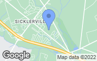 Map of Sicklerville, NJ