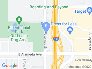 Map of Altos Veterinary Clinic Dog Boarding options in Aurora | Boarding