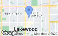 Map of Lakewood, CO
