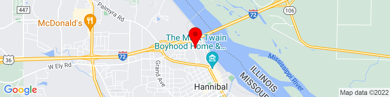 Google Map of 39.7167123, -91.3629263
