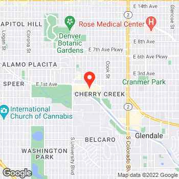 Map of Ann Taylor at 3000 East 1st Avenue, Denver, CO 80206