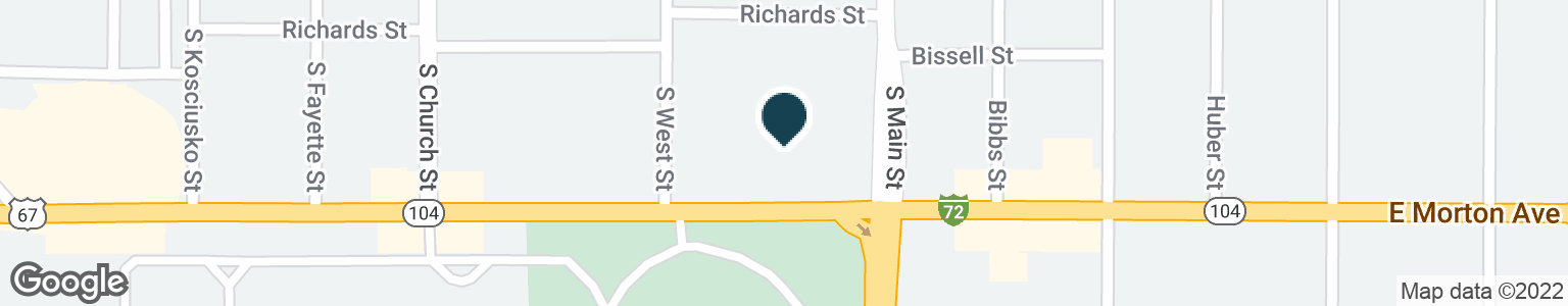 Google Map of134 W MORTON AVE