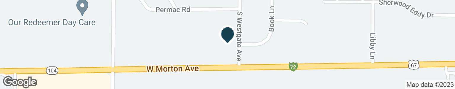 Google Map of1802 W MORTON AVE
