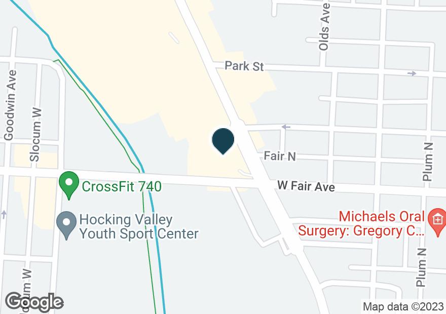 Google Map of911 N MEMORIAL DR
