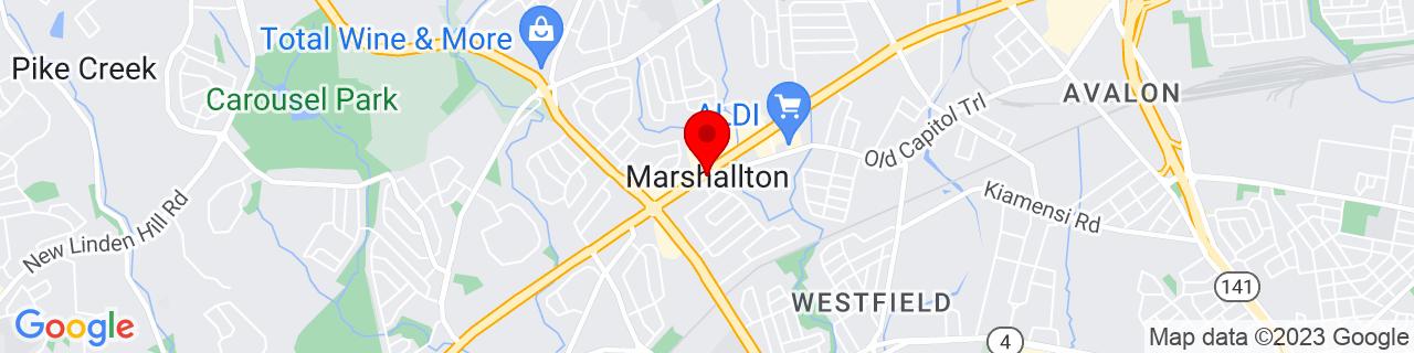 Google Map of 39.7256679, -75.6540959