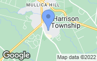 Map of Mullica Hill, NJ