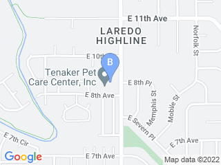 Map of Tenaker Pet Care Center Dog Boarding options in Aurora | Boarding