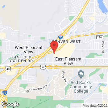 Map of Panera Bread at 14740 W Colfax Avenue, Lakewood, CO 80401
