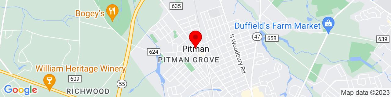 Google Map of 39.732892, -75.1315651
