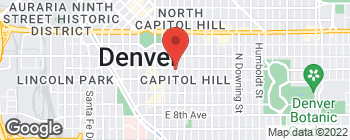 Map of 1177 N Grant St in Denver