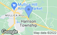 Map of Mullica Hill, NJ