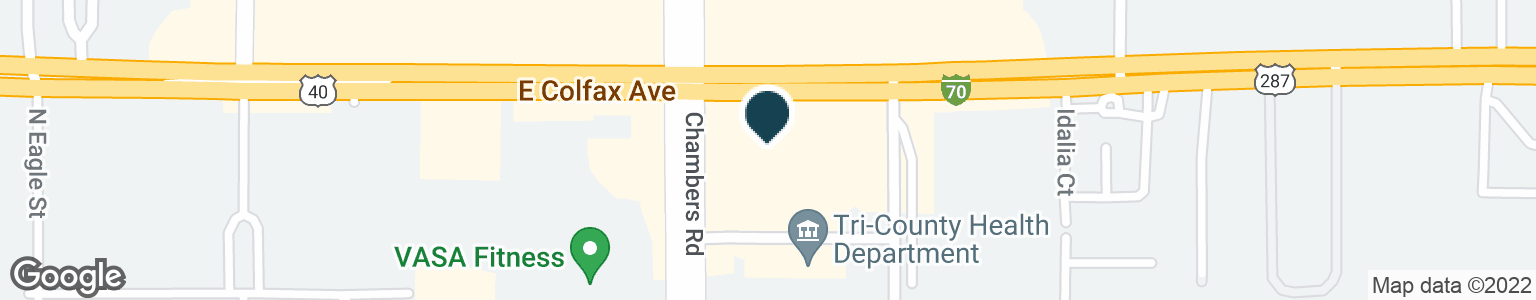 Google Map of15310 E COLFAX AVE