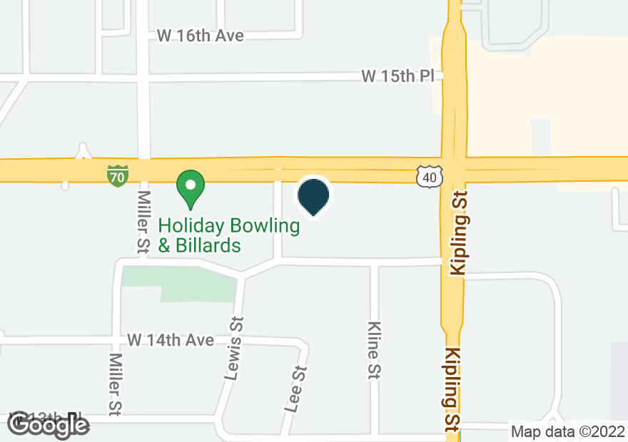 Google Map of10140 W COLFAX AVE
