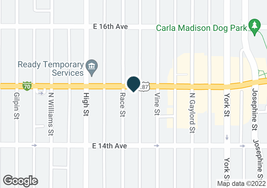 Google Map of2000 E COLFAX AVE