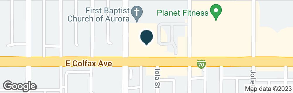 Google Map of10501 E COLFAX AVE