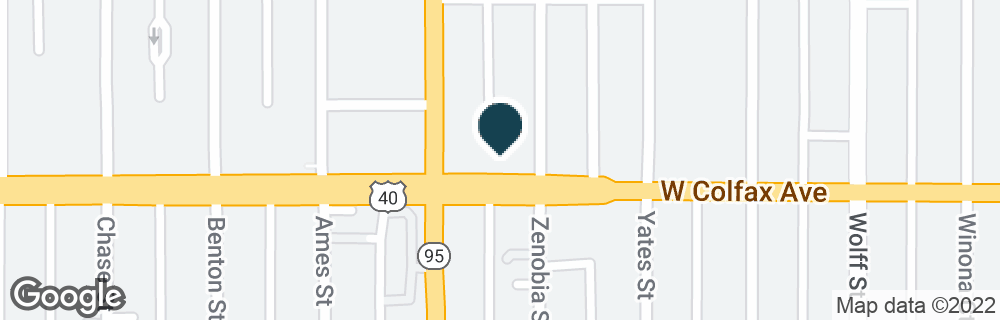 Google Map of5151 W COLFAX AVE