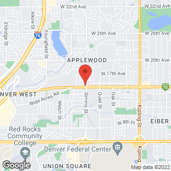 Map of Arby's at 11611 W Colfax Ave, Lakewood, CO 80215