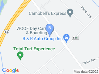 Map of Woof Day Care & Boarding Dog Boarding options in Sewell | Boarding