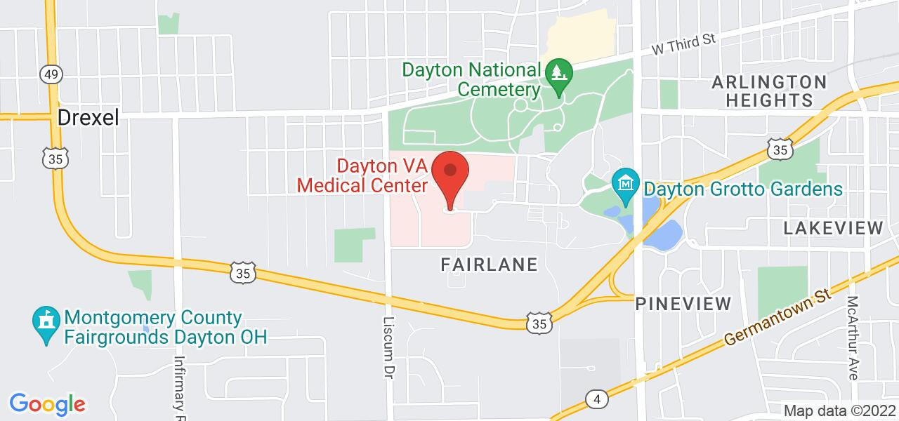 Map location for National Veteran's Hotline