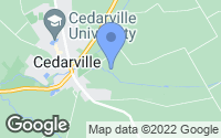 Map of Cedarville, OH